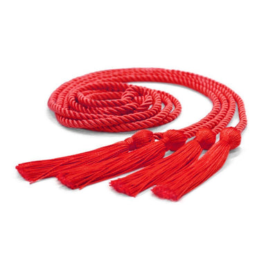 College & University Double Graduation Honor Cord Red - Endea Graduation