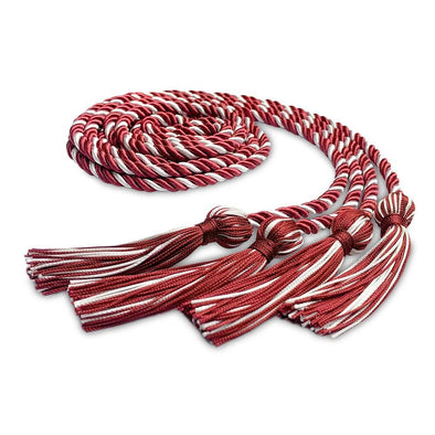 College & University Double Graduation Honor Cord Red/White - Endea Graduation