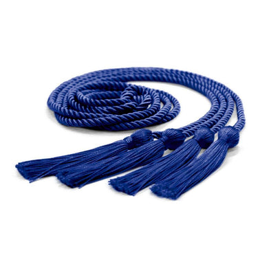 College & University Double Graduation Honor Cord Royal Blue - Endea Graduation