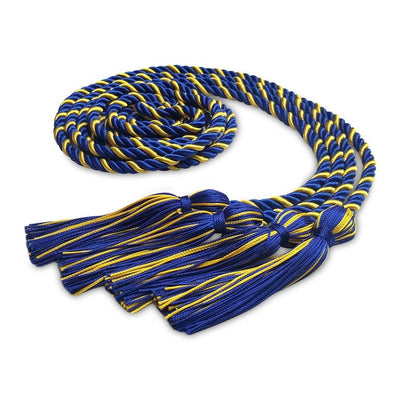 College & University Double Graduation Honor Cord Royal Blue/Gold - Endea Graduation