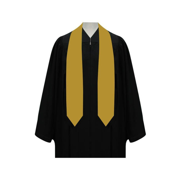 College & University Gold Graduation Stole - Endea Graduation