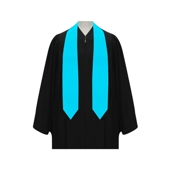 College & University Light Blue Graduation Stole - Endea Graduation