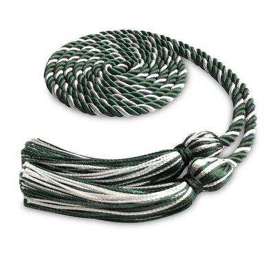 College & University Single Graduation Honor Cord Forest Green/White - Endea Graduation