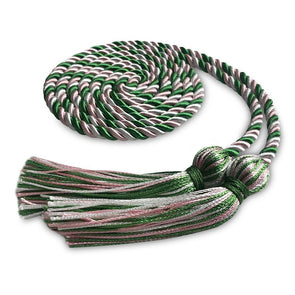 College & University Single Graduation Honor Cord Kelly Green/Pink/White - Endea Graduation