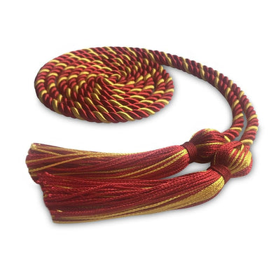 College & University Single Graduation Honor Cord Red/Gold - Endea Graduation