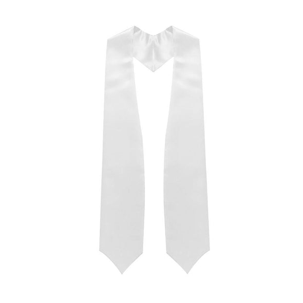 College & University White Graduation Stole - Endea Graduation
