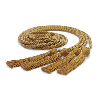 Double Graduation Honor Cord Antique Gold - Endea Graduation