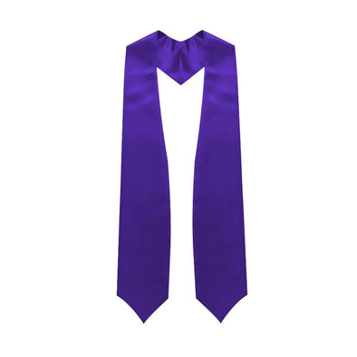 High School Purple Graduation Stole - Endea Graduation