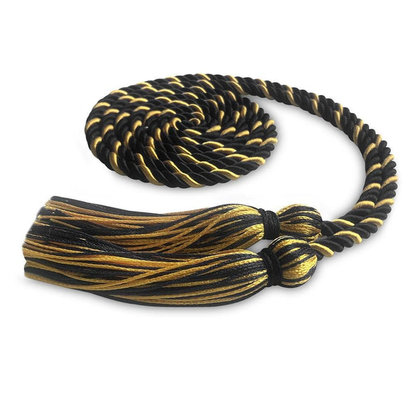 High School Single Graduation Honor Cord Black/Gold - Endea Graduation