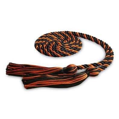 Kindergarten & Pre-School Single Graduation Honor Cord Black/Orange - Endea Graduation
