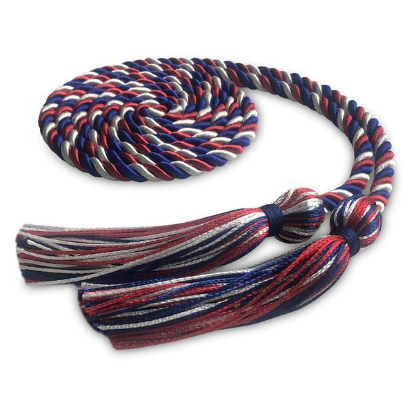 Kindergarten & Pre-School Single Graduation Honor Cord Royal Blue/Red/White - Endea Graduation