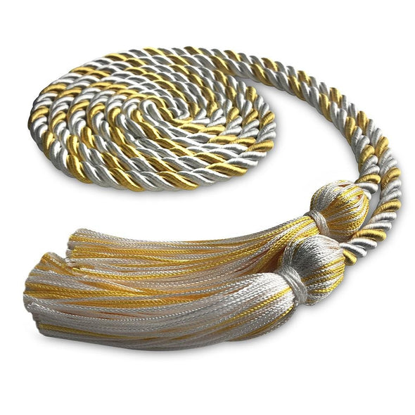 Kindergarten & Pre-School Single Graduation Honor Cord White/Antique Gold - Endea Graduation