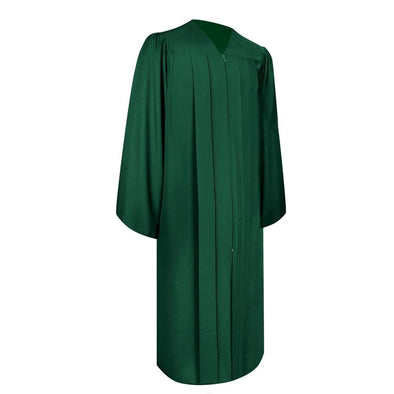 Matte Hunter Green Elementary School Graduation Gown - Endea Graduation