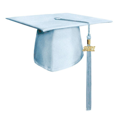 Matte Light Blue Middle School & Junior High Graduation Cap & Tassel - Endea Graduation