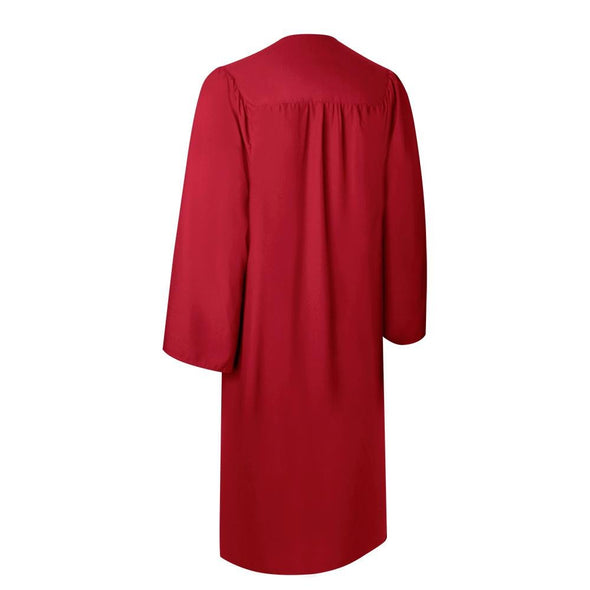 Matte Red High School Graduation Gown - Endea Graduation