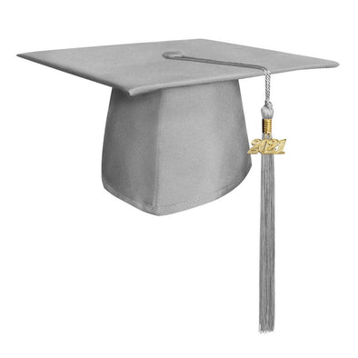 Matte Silver Middle School & Junior High Graduation Cap & Tassel - Endea Graduation