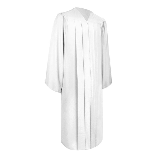 Matte White High School Graduation Gown - Endea Graduation