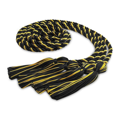 Middle School & Junior High Double Graduation Honor Cord Forest Black/Gold - Endea Graduation