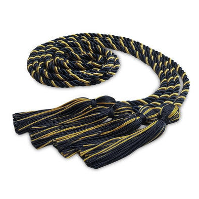 Middle School & Junior High Double Graduation Honor Cord Navy Blue/Antique Gold - Endea Graduation