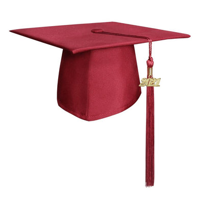 Middle School & Junior High Matte Red Graduation Cap & Tassel - Endea Graduation