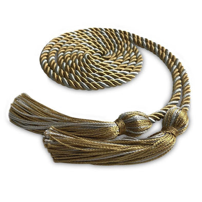 Middle School & Junior High Single Graduation Honor Cord Antique Gold/Silver - Endea Graduation