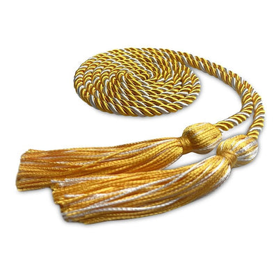 Middle School & Junior High Single Graduation Honor Cord Gold/White - Endea Graduation