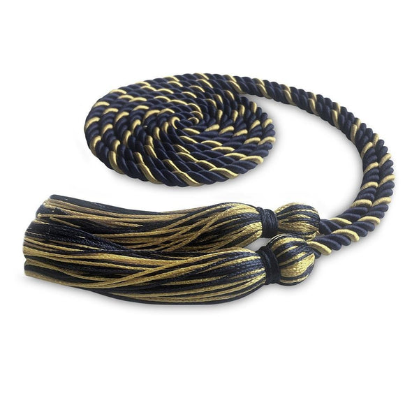 Middle School & Junior High Single Graduation Honor Cord Navy Blue/Antique Gold - Endea Graduation