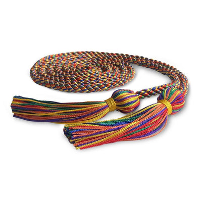 Middle School & Junior High Single Graduation Honor Cord Rainbow - Endea Graduation