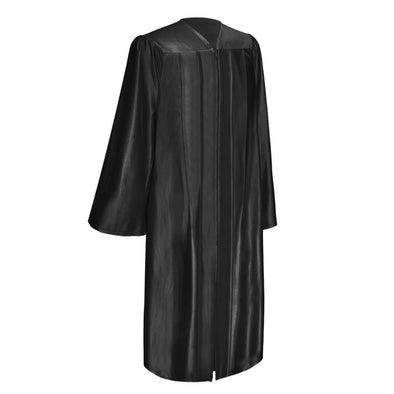 Shiny Black Elementary School Graduation Gown - Endea Graduation