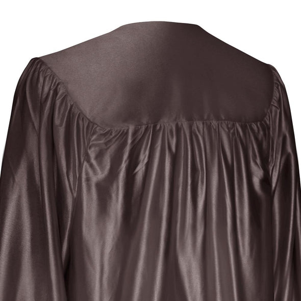 Shiny Brown High School Graduation Gown - Endea Graduation