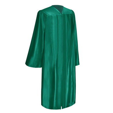Shiny Emerald Green Elementary School Graduation Gown - Endea Graduation