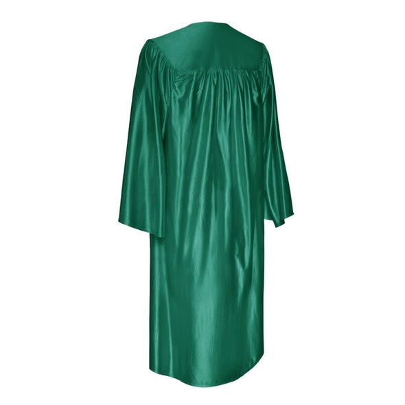 Shiny Emerald Green Elementary School Graduation Gown & Cap - Endea Graduation