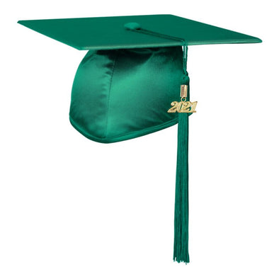 Shiny Emerald Green Middle School & Junior High Graduation Cap & Tassel - Endea Graduation
