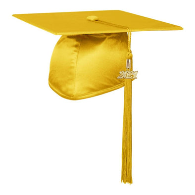 Shiny Gold Middle School & Junior High Graduation Cap & Tassel - Endea Graduation