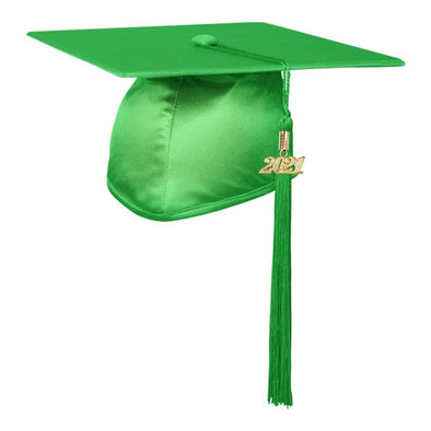 Shiny Green Middle School & Junior High Graduation Cap & Tassel - Endea Graduation