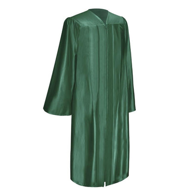 Shiny Hunter Green Elementary School Graduation Gown - Endea Graduation