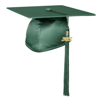 Shiny Hunter Green Middle School & Junior High Graduation Cap & Tassel - Endea Graduation