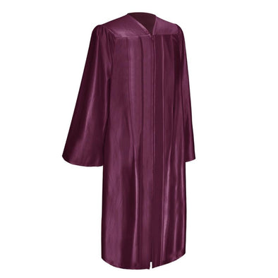 Shiny Maroon Elementary School Graduation Gown - Endea Graduation