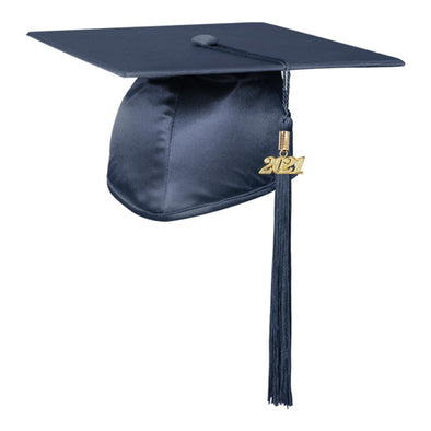Shiny Navy Blue Middle School & Junior High Graduation Cap & Tassel - Endea Graduation