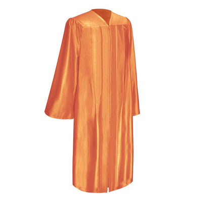 Shiny Orange Elementary School Graduation Gown - Endea Graduation