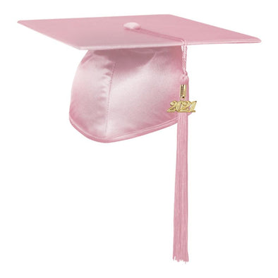 Shiny Pink Middle School & Junior High Graduation Cap & Tassel - Endea Graduation