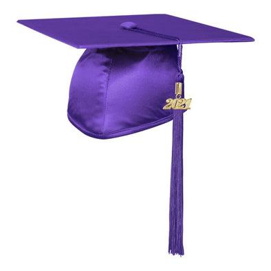 Shiny Purple Middle School & Junior High Graduation Cap & Tassel - Endea Graduation