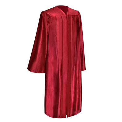 Shiny Red Elementary School Graduation Gown - Endea Graduation