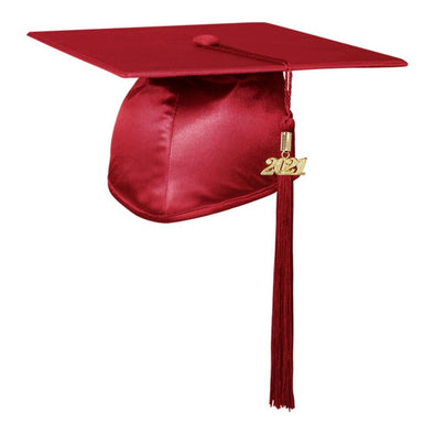 Shiny Red Middle School & Junior High Graduation Cap & Tassel - Endea Graduation