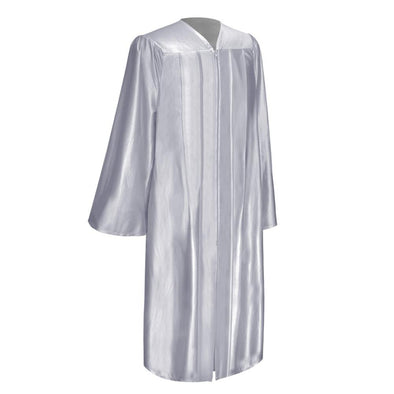 Shiny Silver Elementary School Graduation Gown - Endea Graduation