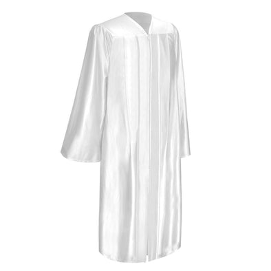 Shiny White Elementary School Graduation Gown - Endea Graduation