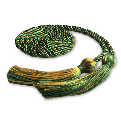 Single Graduation Honor Cord Green/Gold - Endea Graduation