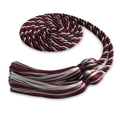 Single Graduation Honor Cord Maroon/Silver - Endea Graduation