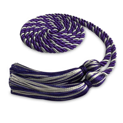 Single Graduation Honor Cord Purple/Silver - Endea Graduation