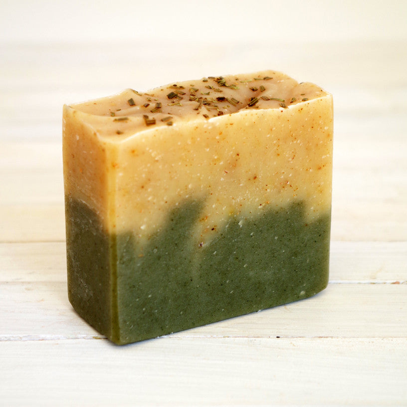 Spruce and Orange Soap with Cocoa Butter and Shea Butter
